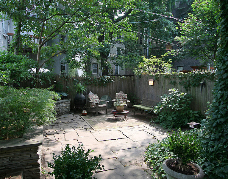 Brooklyn Brownstone, Clinton Hill, Lake Bell, Landscape, Brooklyn Garden, Zen Garden, Townhouse