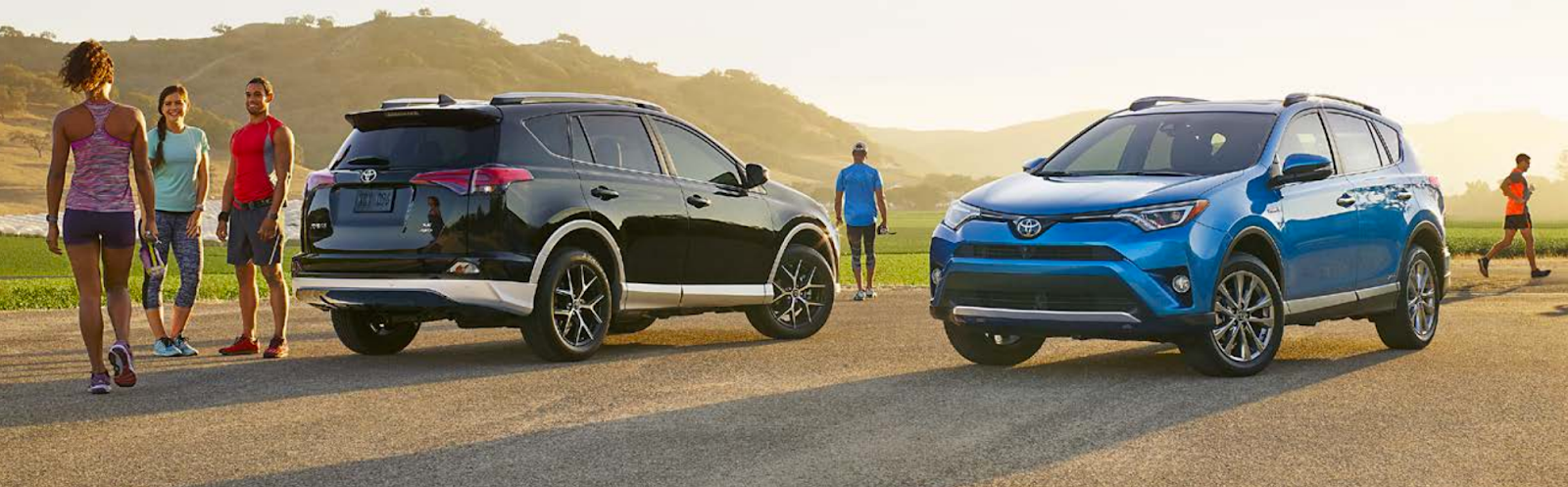 Toyota in Burnaby - 2016 Rav4 Blue and Black - Greater Vancouver Toyota Dealer