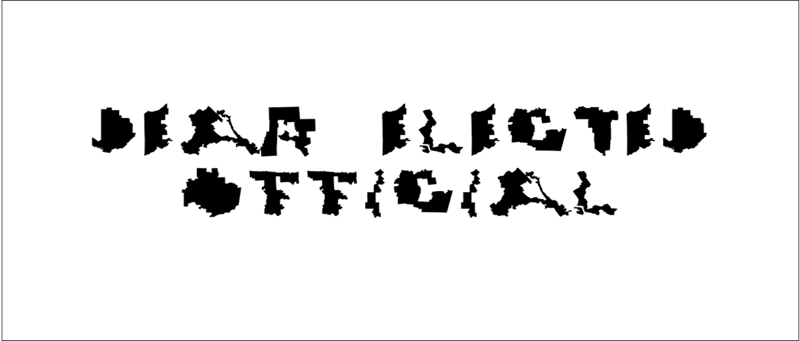 This Font Is Made of Ridiculously Gerrymandered Congressional