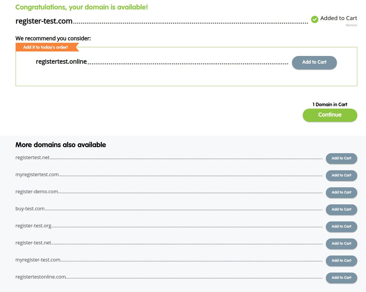 register.com domains pricing