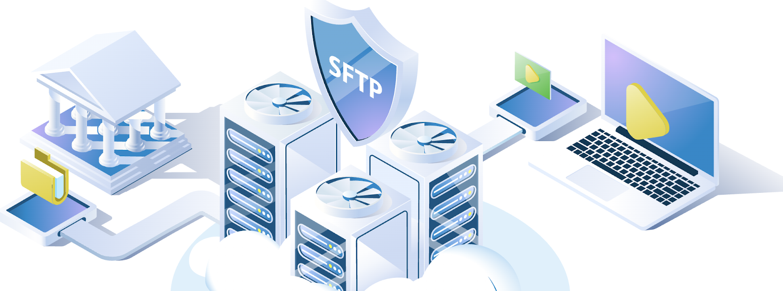 Computers connecting to SFTP servers.