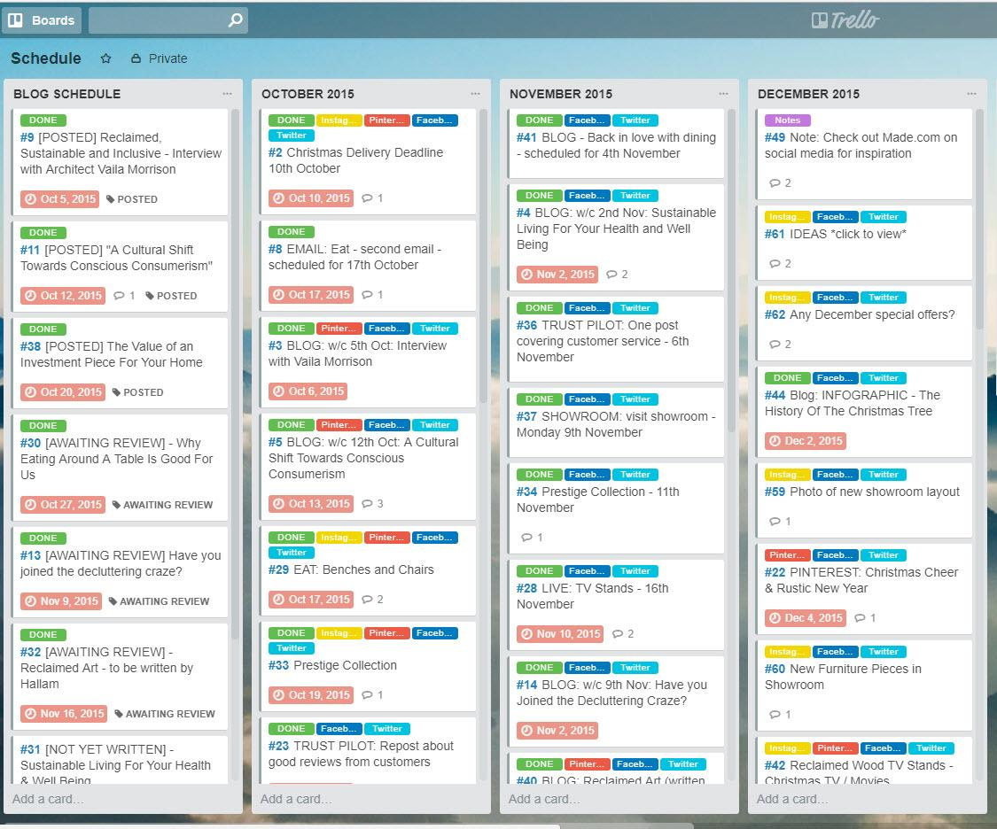 trello project management app