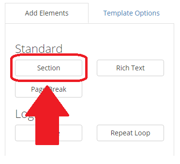 Section in Element Sidebar highlighted.png
