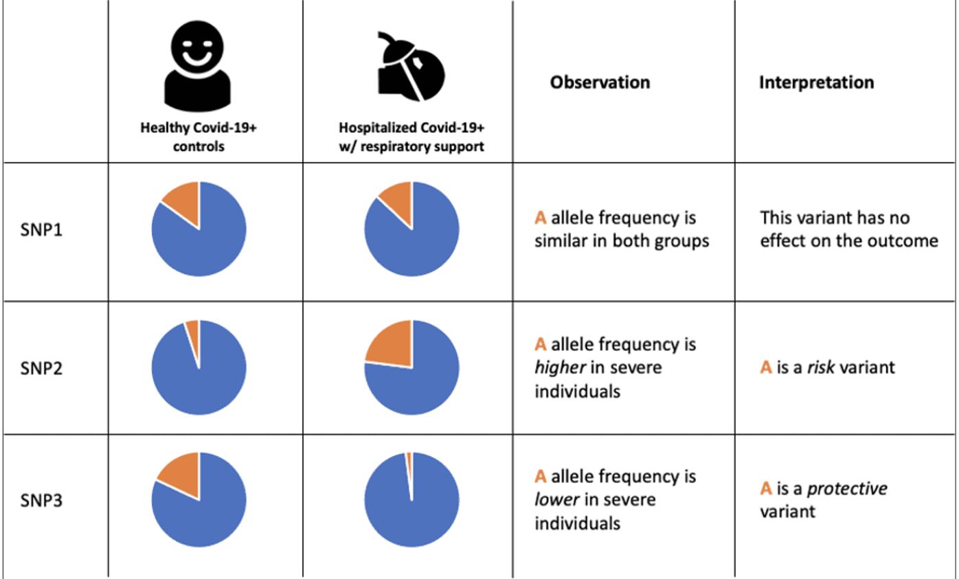 Figure 1: Interpreting risk based on genotype observation