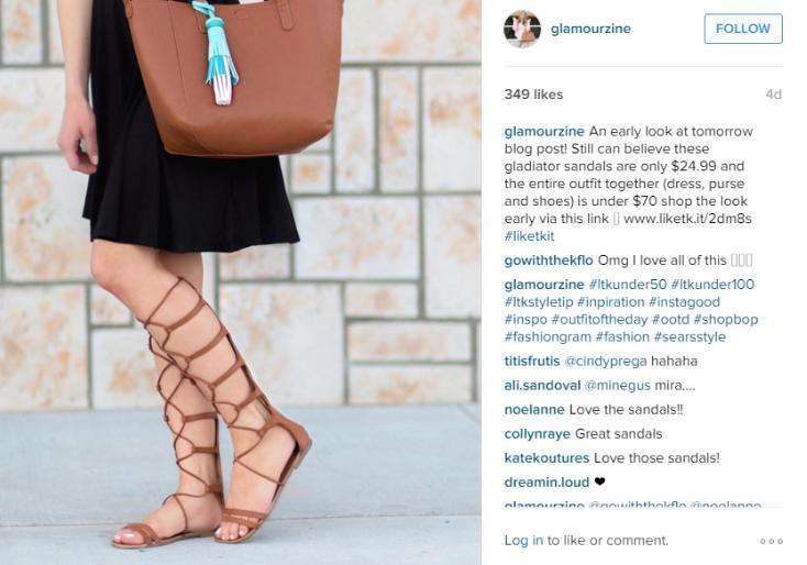 instagram affiliate link example