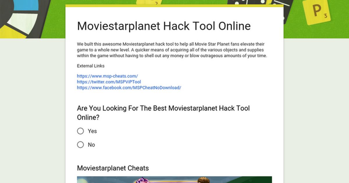Moviestarplanet Hack Tool Online