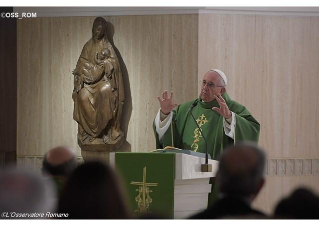 Pope Francis during Mass at the Casa Santa Marta - OSS_ROM