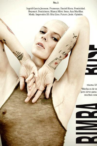 Bimba Bosé en portada de la revista Vein.