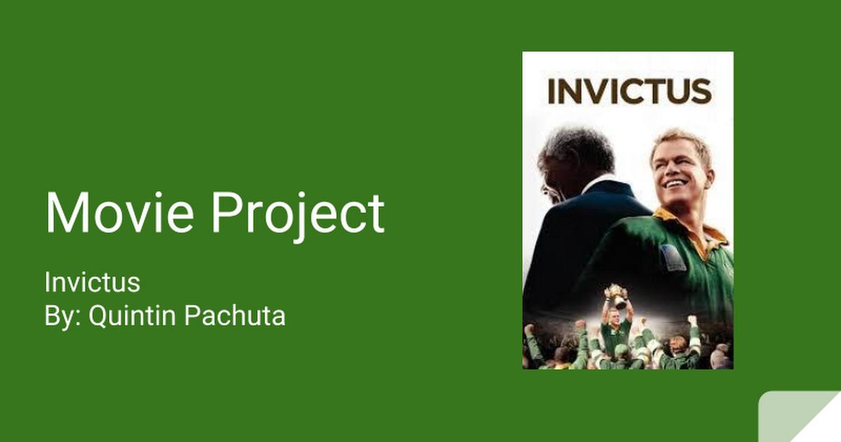 Movie Project Invictus Google Slides