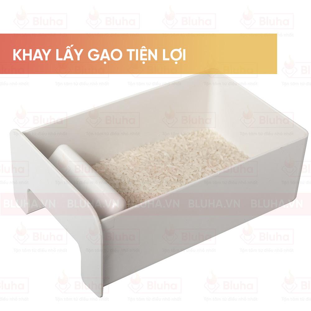 Khay lấy gạo tiện lợi - Thùng gạo gắn cánh Qman - Phụ kiện bếp chính hãng