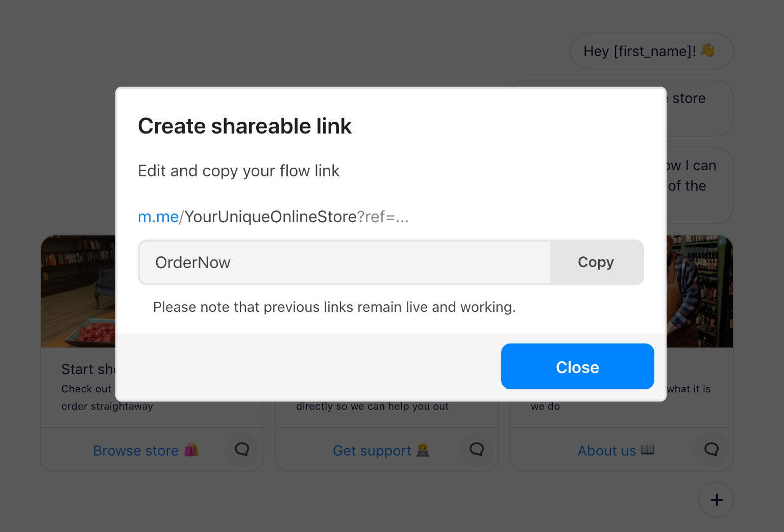 Creating-a-unique-custom-link-to-your-flow