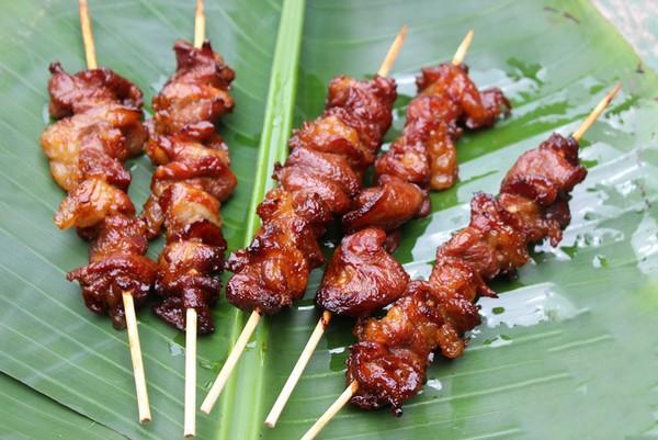 Thịt xiên nướng Mai Châu