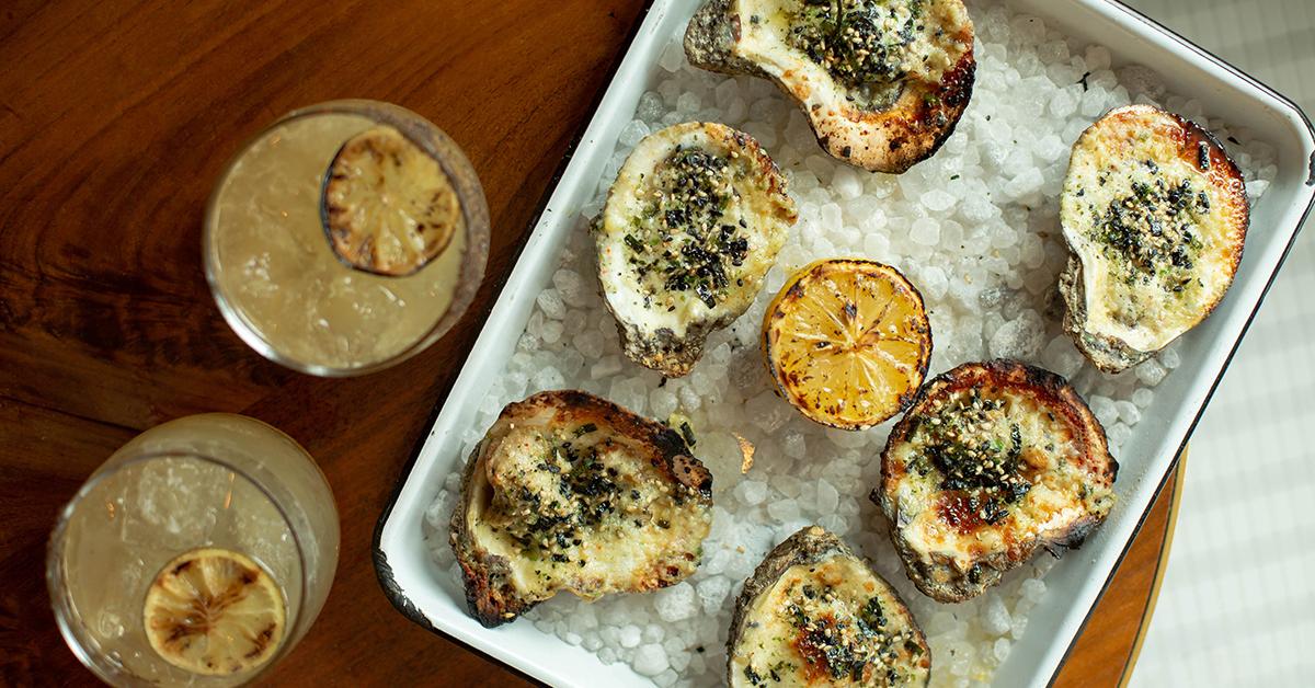 Garlic Parmesan Baked Oysters