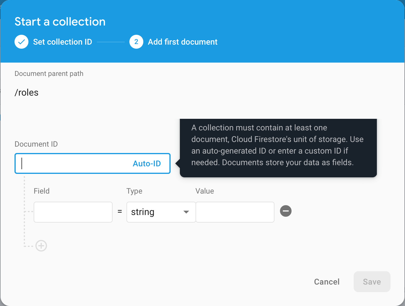 Combined use of Firebase Authentication & Firebase Cloud Firestore