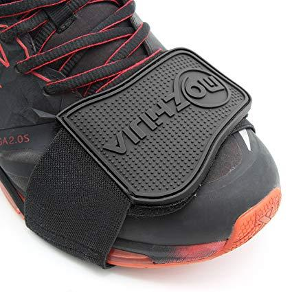 Xcellent Global Protector de zapato de Moto Cubre Botas Ayuda para el Cambio Negro AT022
