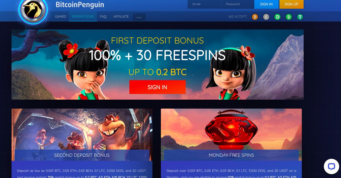 BitcoinPenguin Casino