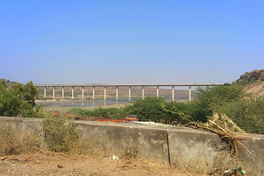 New bridge across the river Krishna