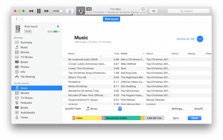iTunes songs