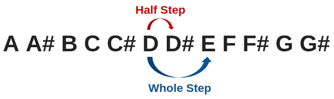 Whole Step and Half Step Explained