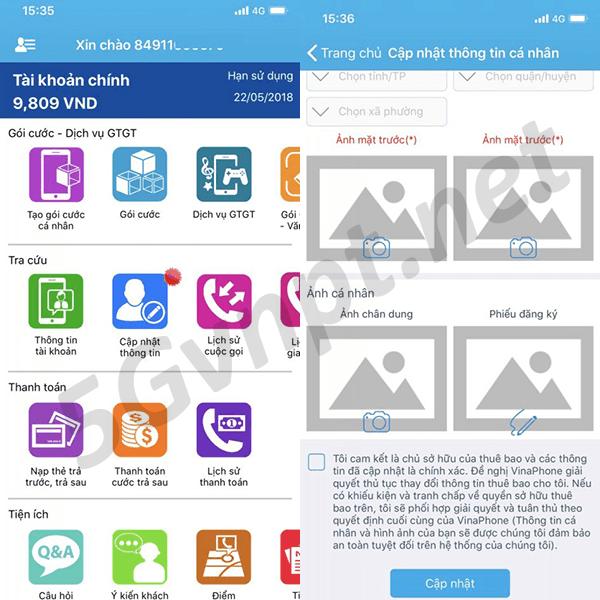 Cách đăng ký thông tin sim Vinaphone chính chủ tại nhà nhanh chóng nhất