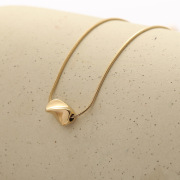 Europe and the United States Simple Titanium Steel Necklaces Creative Female chao da Cool Planet Meteorites Pendant Clavicle Chain Jewelry Wholesale Supply