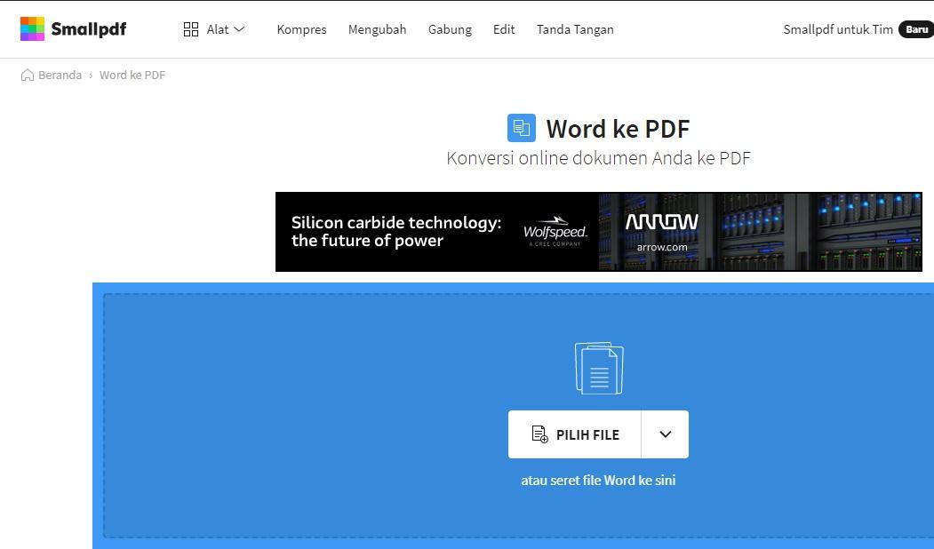 Membuat Ebook pdf dari Word secara online