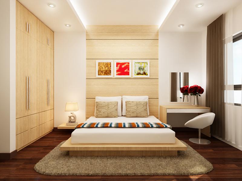 Kết quả hình ảnh cho thiết kế nội thất chung cư 70m2 phòng ngủ