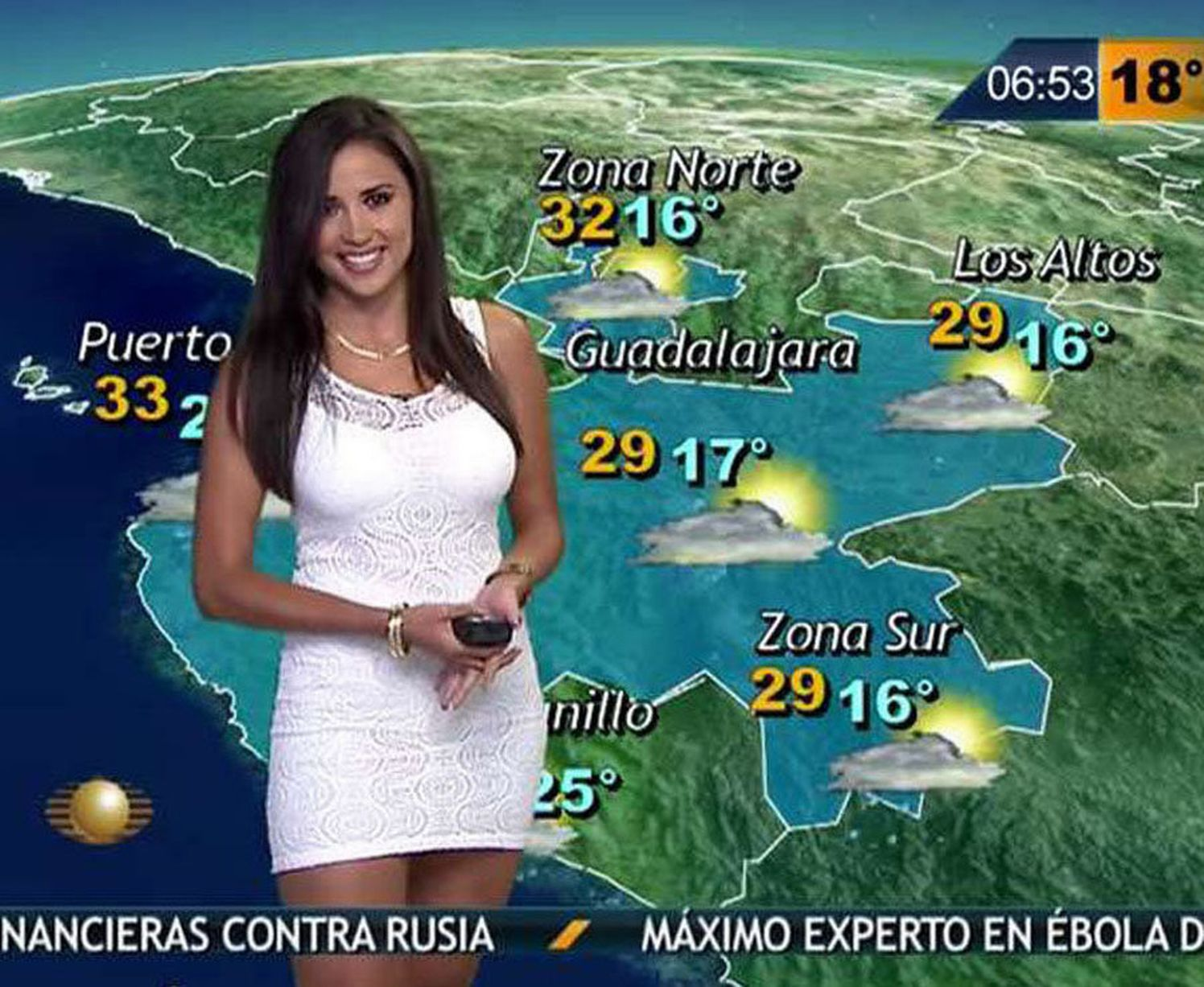 Mexican weather reporter Susana Almeida