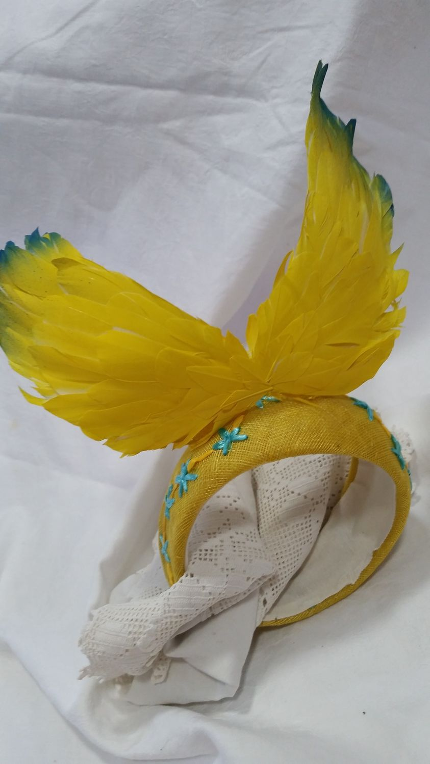 One of Hat & Crown Millinery's creations at the Brisbane Millinery Fair