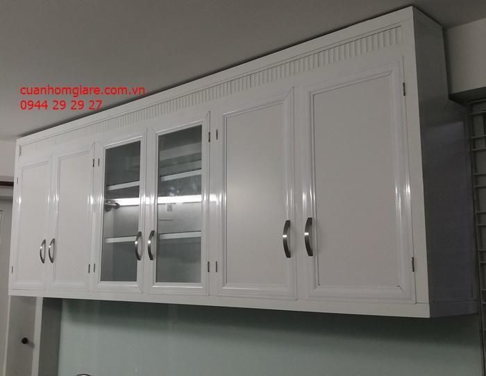 Những mẫu tủ bếp nhôm kính sơn tĩnh điện BỀN ĐẸP chất lượng TpHCM
