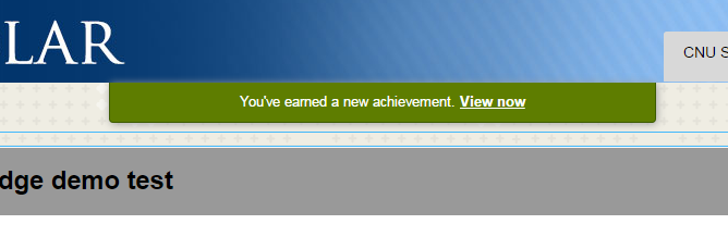 Earn New Achievement