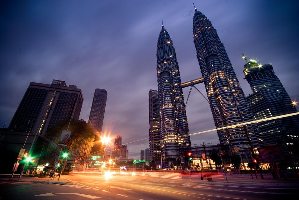 Visiting Malaysia: Kuala Lumpur at night.