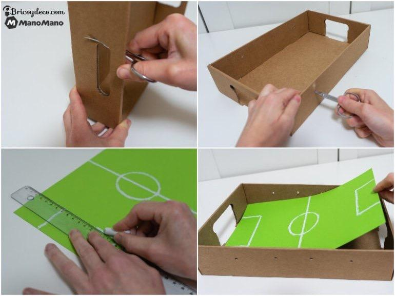 how to make your table football field out of cardboard