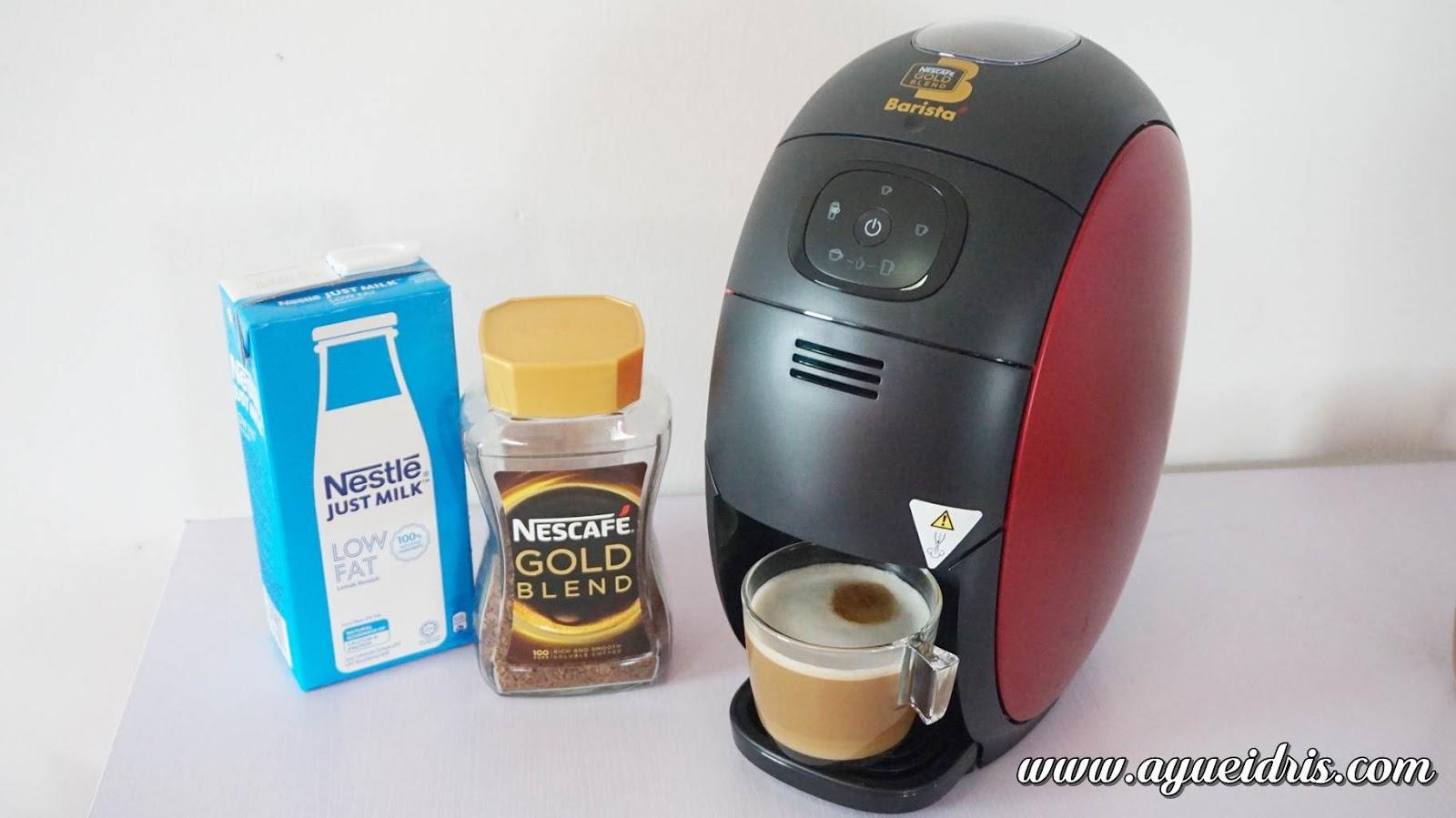 Nescafe Gold Barista Coffee Machine cara guna harga (42).JPG