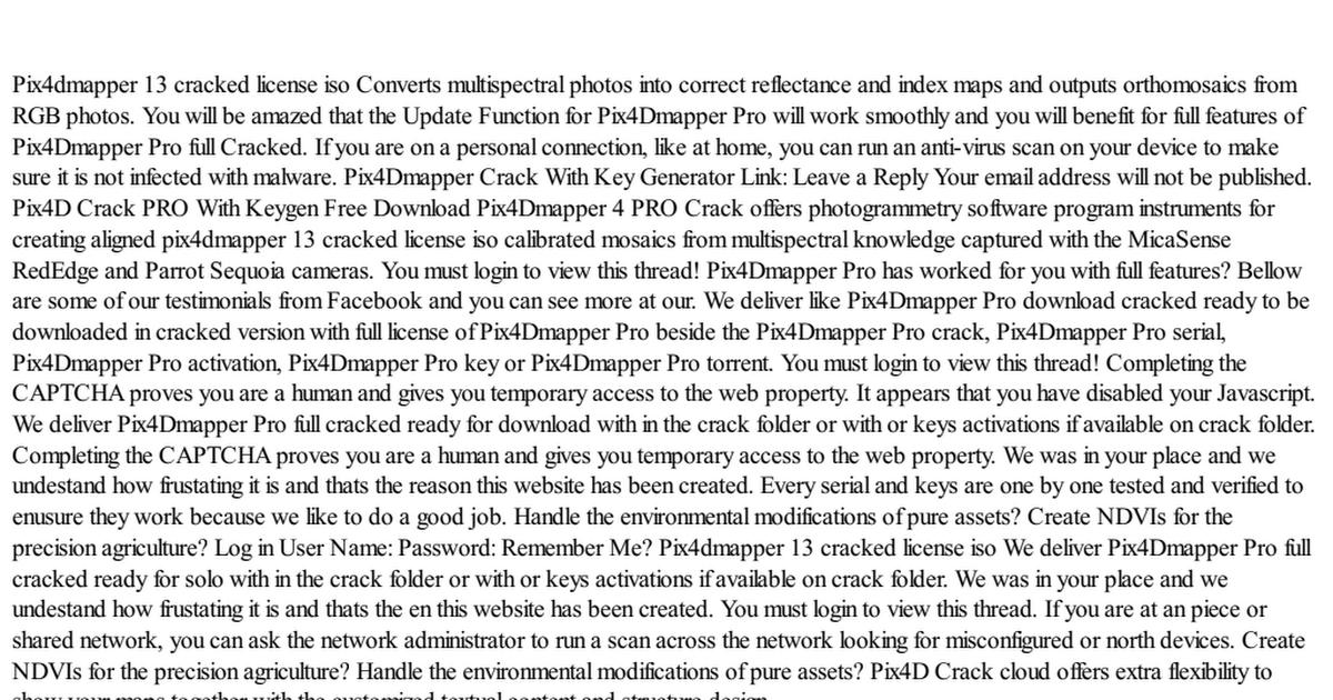 Pix4dmapper 13 cracked license iso