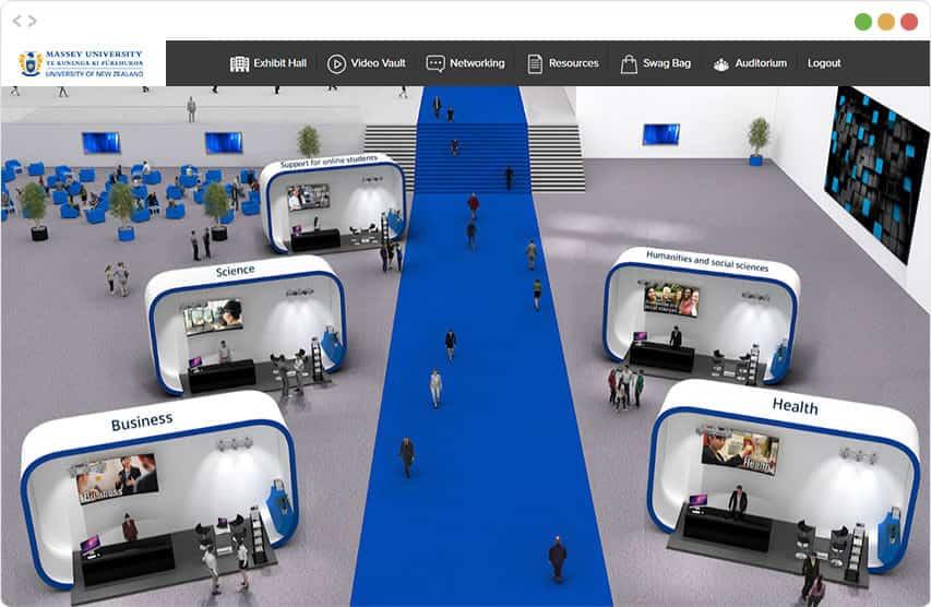 Screenshot of the vFairs Virtual Event Platform
