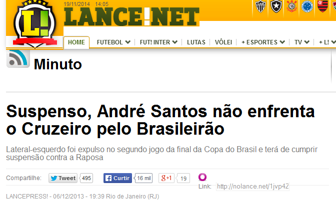 LanceNet escondeu informações que envolviam Flamengo no rebaixamento de 2013