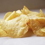 close-up photograph of potato chips