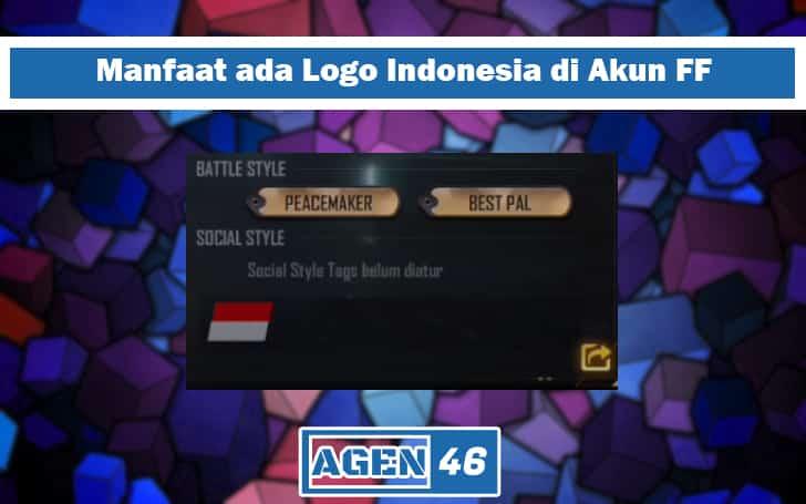 kode bendera indonesia di free fire