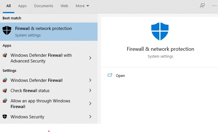 Firewall and network protection
