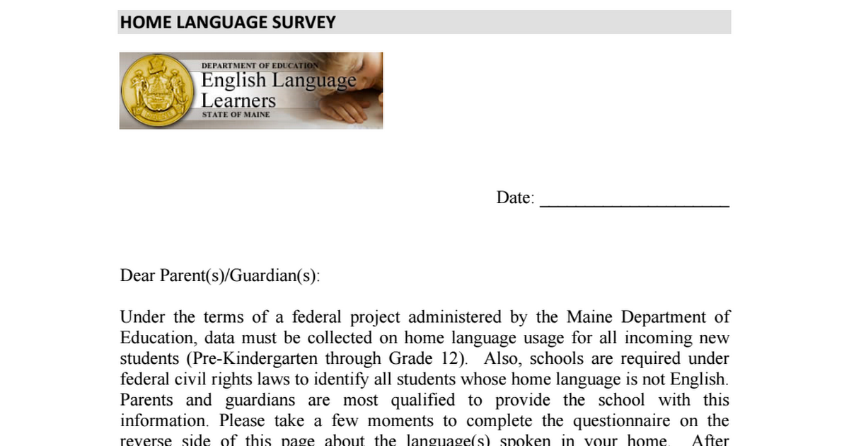 spoken language questionaire These questionnaires have been used widely in language attrition, they are available in a number of languages i am extremely grateful to amber nota and her terrific eye for detail, for ensuring.