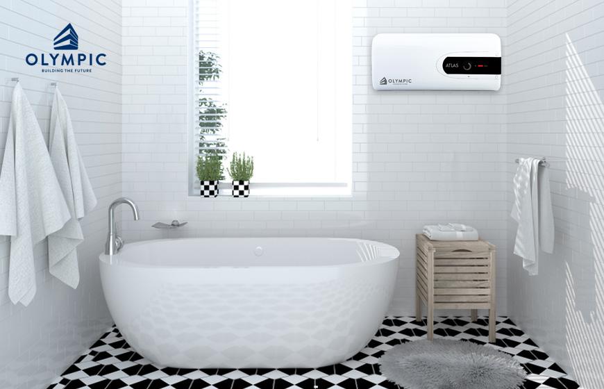 Ánh sáng tự nhiên tạo cảm giác không gian rộng rãi hơn cho phòng tắm
