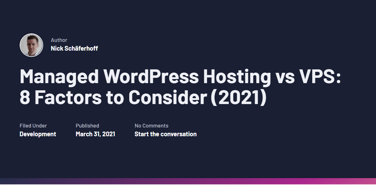 """A Torque article titled """"Managed WordPress Hosting vs VPS: 8 Factors to Consider (2021)"""""""