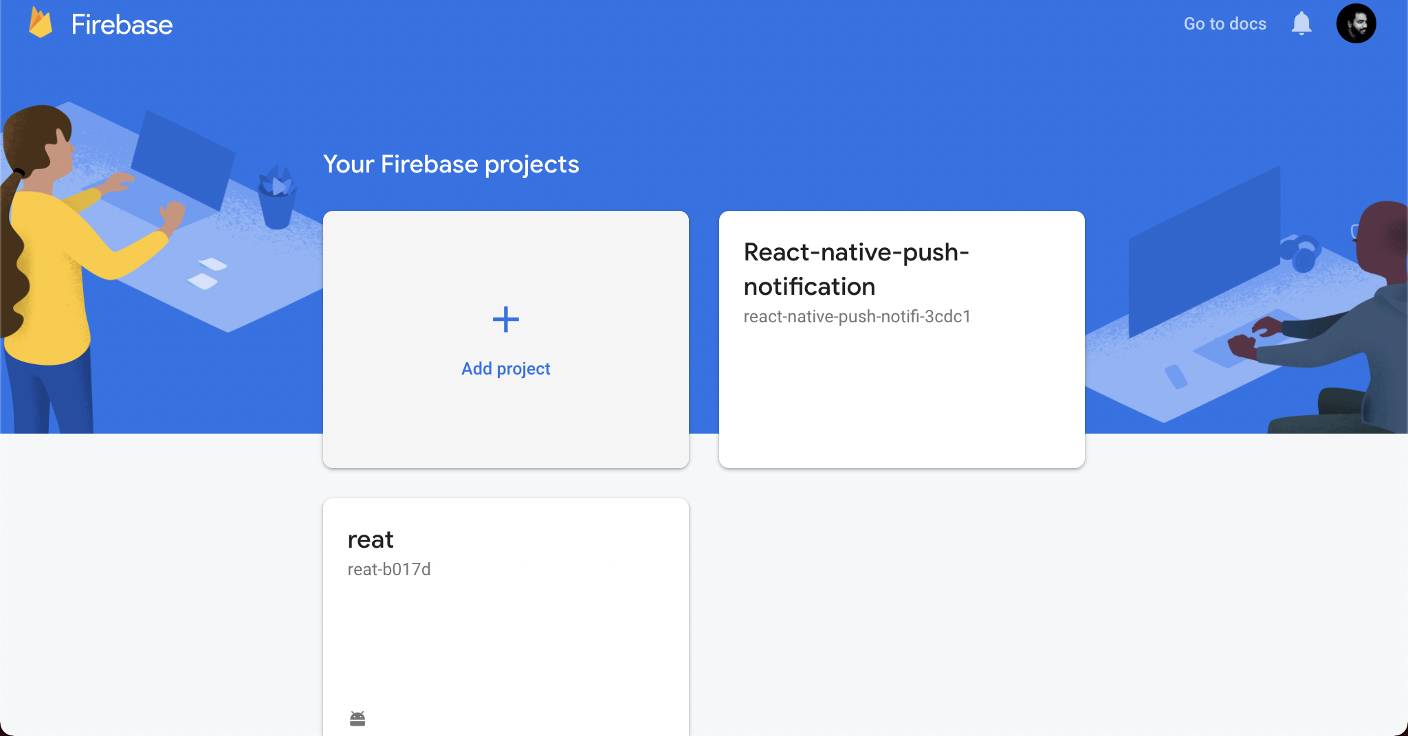 Add your project to Firebase