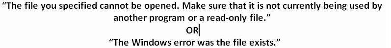 QuickBooks Error The File Exists