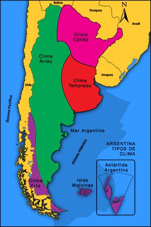 Climas y regiones agrícolas de Argentina