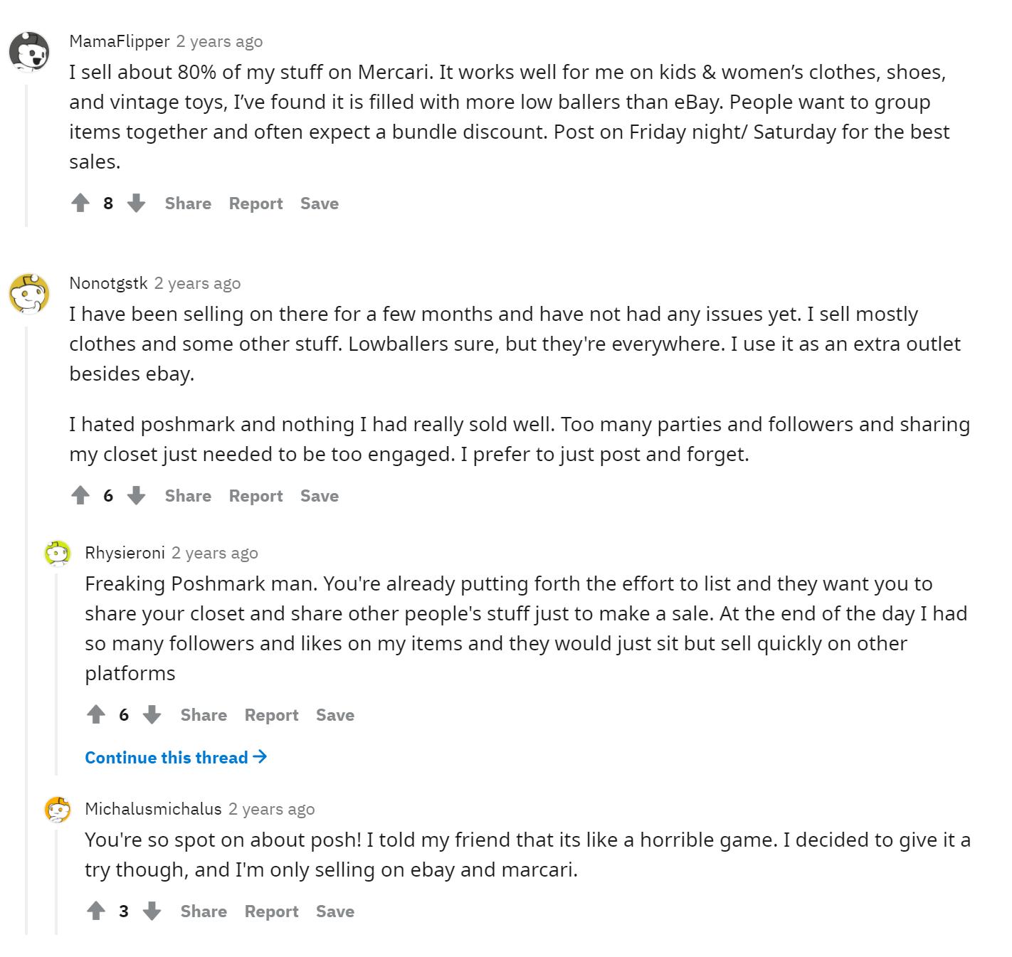 mercari reddit reviews