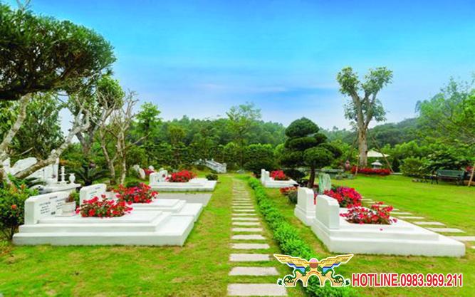 Công viên nghĩa trang Tưởng Niệm Thiên Đức có diện tích lên đến 100 hecta