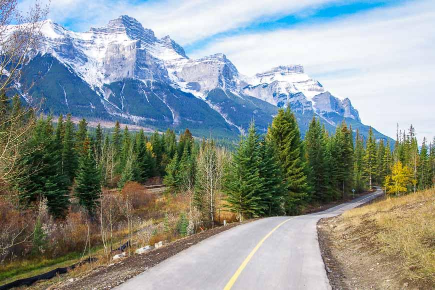 Pretty scenery along the Banff Legacy bike trail
