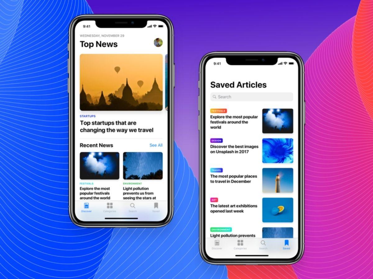 News app built using react native technology